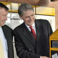 Ken Mackay (left) with Transport Secretary Philip Hammond
