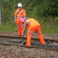 rail workers fit taggent