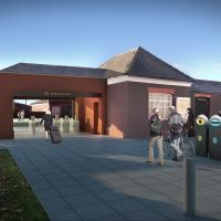 Architect view of West Jesmond Metro Station