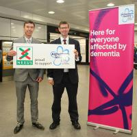 Nexus MD Tobyn Hughes with Andrew Ball from Alzheimer's Society at the launch