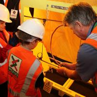 Nexus engineer shows youngsters Metro maintenance work