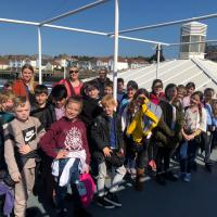 Christchurch C of E pupils on board the Shields Ferry