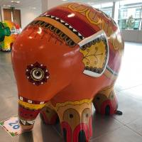 Henna the Elephant, Elmer Sculpture