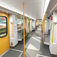New look Metro train interior
