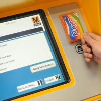 A Metro ticket machine