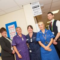 The bus stop on the hospital ward with nursing staff and Nexus staff