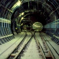 Metro tunnel between Monument and Haymarket beneath Newcastle city centre