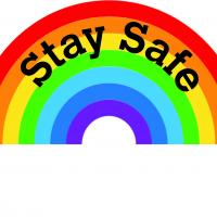 Stay safe rainbow logo