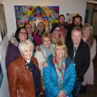 TyneMet students with the artwork at Thnemouth Station