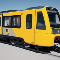 The new yellow livery