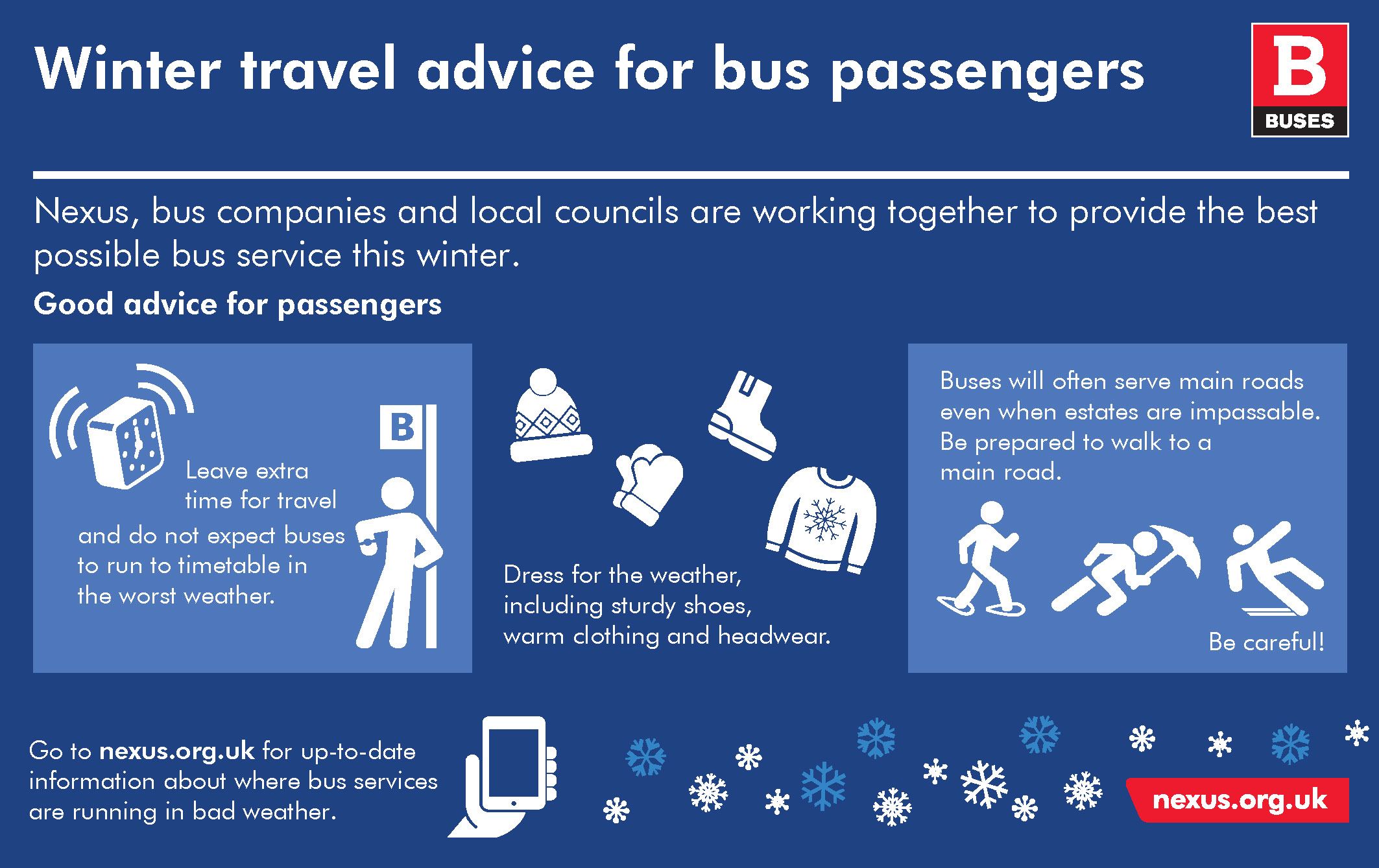 Winter travel advice for bus passengers